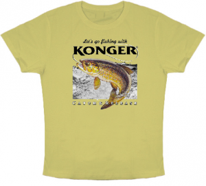 Article de peche : T-Shirt Konger Truite
