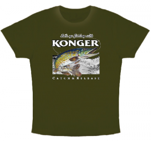 Article de peche : T-Shirt Konger Brochet 2017